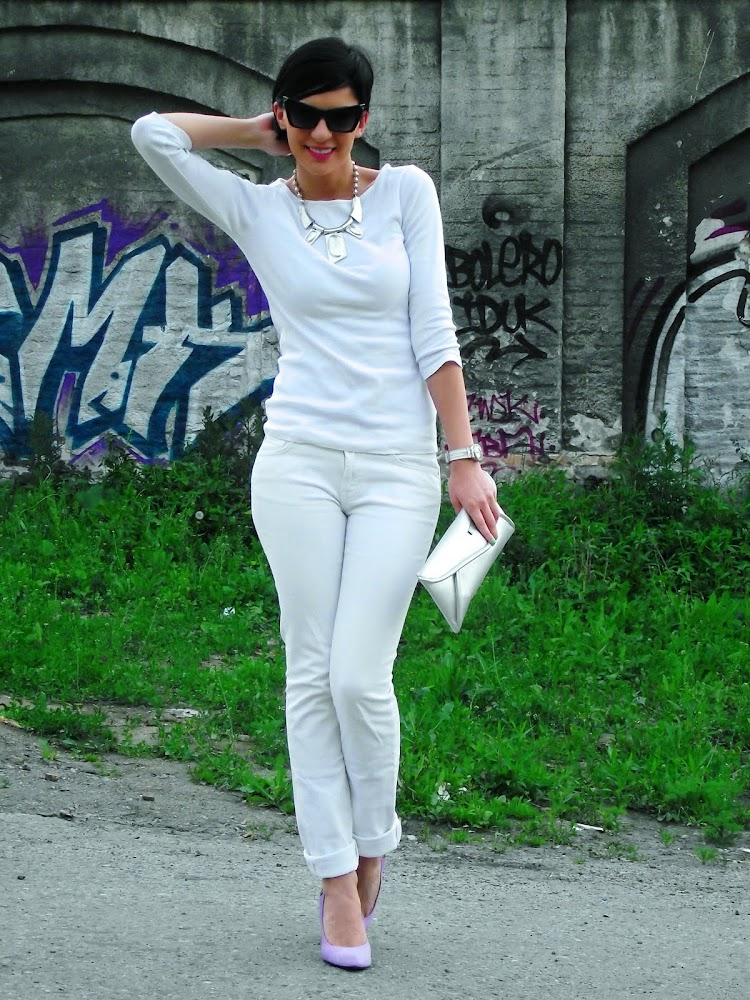 All white with a twist…