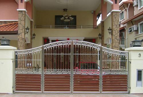 Modern homes main entrance gate designs modern home designs - Entrance gate designs for home ...