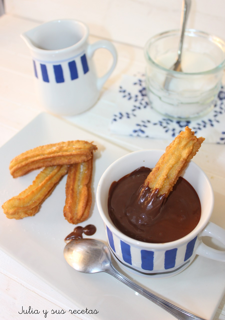 Julia y sus recetas churros con chocolate con cuisine for Cuisine companion