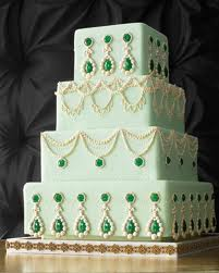 Martha Stewart Georgian Bejeweled Wedding Cake