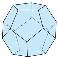 Abb. 4: Dodekaeder (12 Seiten) aus Fünfecken