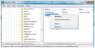 Cara memasang gambar/ logo sendiri di system properties windows vista