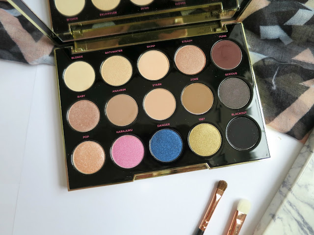 Urban Decay Gwen Stefani Eye Shadow Palette Neutral Favourite Swatch Shades