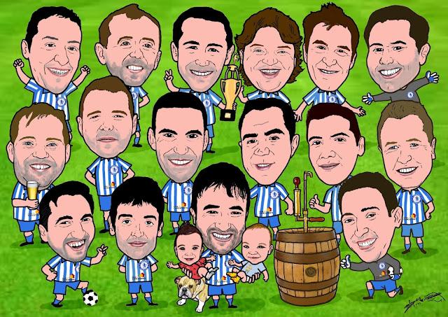 Caricatura do time de futebol