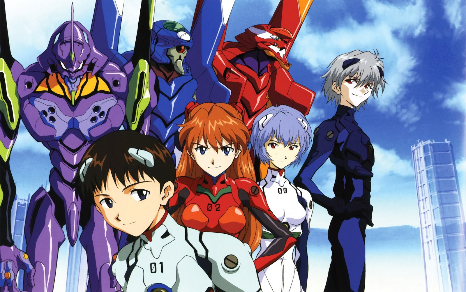 What is the main theme of Neon Genesis Evangelion?