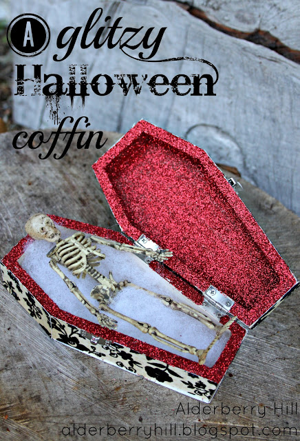 pm056 A Glitzy Halloween Coffin