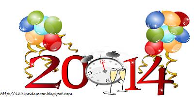 sms bonne année d'amour 2014