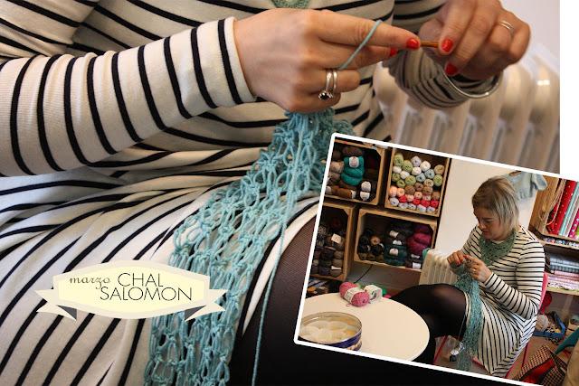 Taller monográfico Chal Salomón en Sweet sixteen craft store Madrid