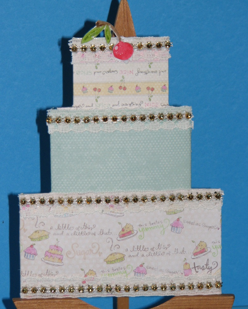 Ink Stains: Birthday Cake Gift Card Holder