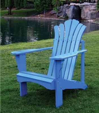 sanibel blue adirondack chair