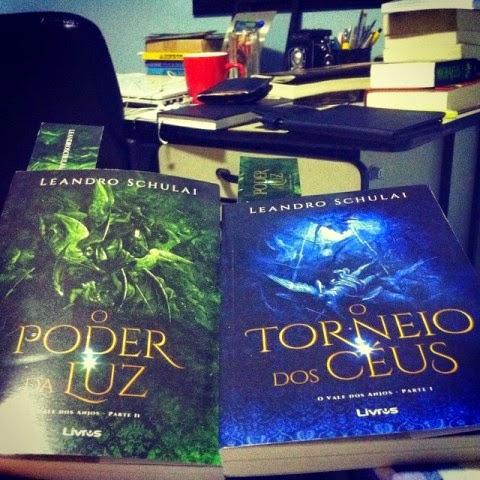 Livros do escritor Leandro Schulai, da série O Vale dos Anjos