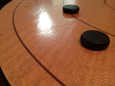 another closeup of Mayday Games Crokinole board