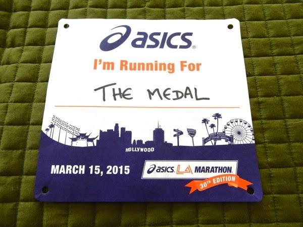 LA Marathon running bib