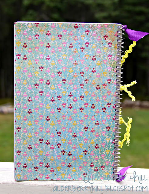 1 pm014 DIY: Altered Notebook with Mini File Folders
