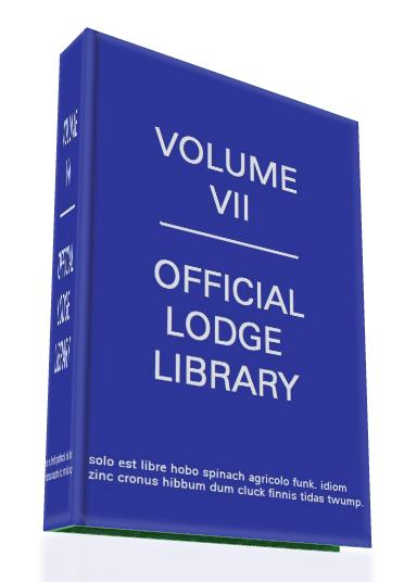 Go get me Volume VII from my lodge library!