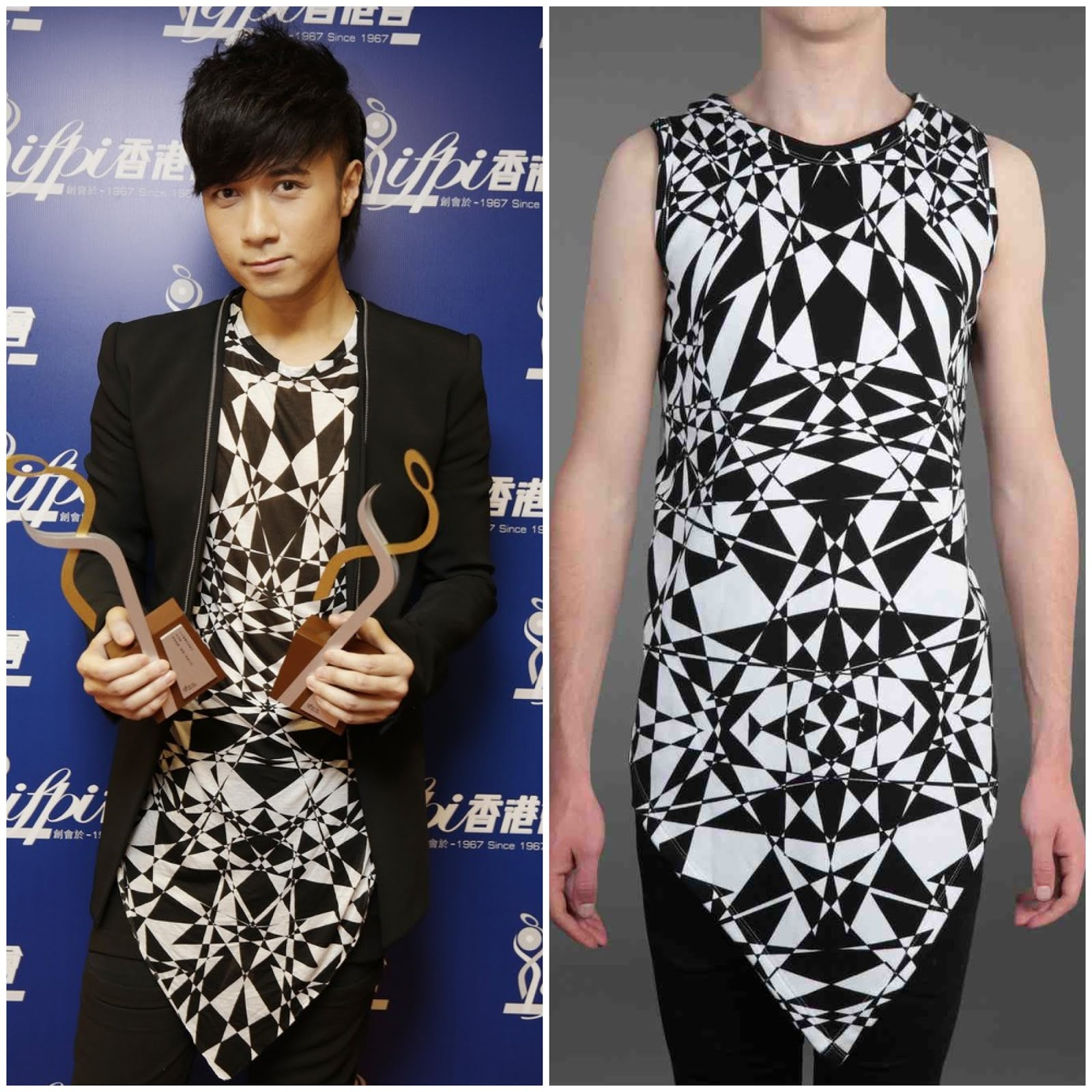 00O00 Menswear Blog Leo Ku [古巨基] in Gareth Pugh - 2013 IFPI Hong Kong Top Sales Music Awards