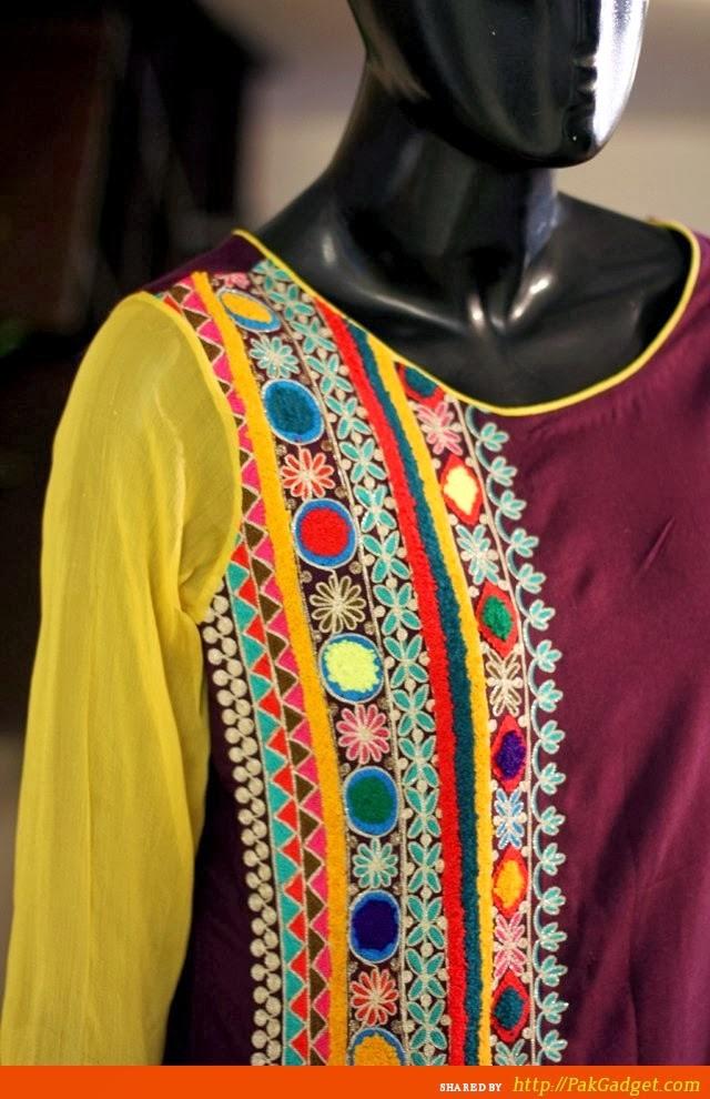 Pakistani Neckline Gala Designs 20142015 Of Salwar
