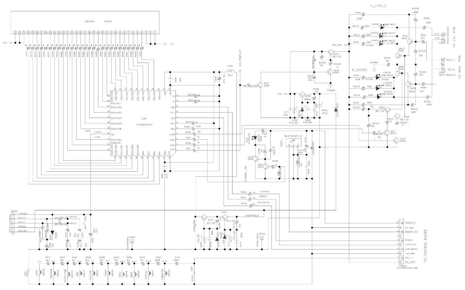 Main Board  U0026 Display Board - Schematic  Circuit Diagram