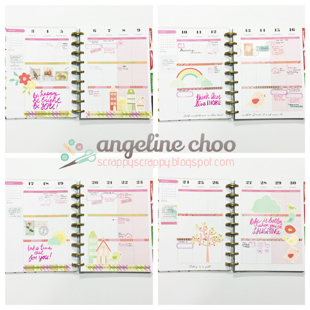 ScrappyScrappy: My Happy Planner [August 2015] #scrappyscrappy #happyplanner #mambi #meandmybigideas #sweetstampshop #kuretake #cleancolorrealbrush #planner