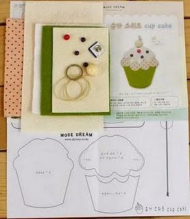 Moldes bolsinha chaveiro de cupcake