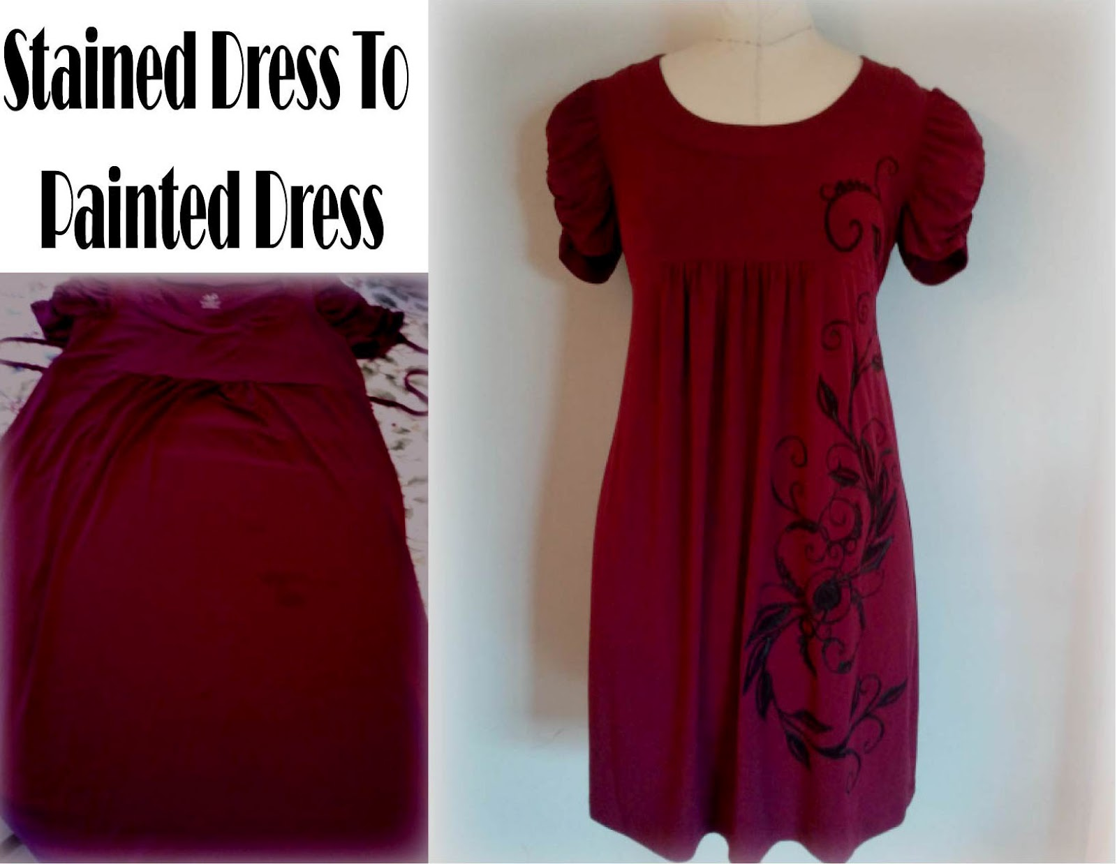 Diy Upcycled Clothing Refashion Co Op Upcycled Dress Paint Job Makeover Diy Tips