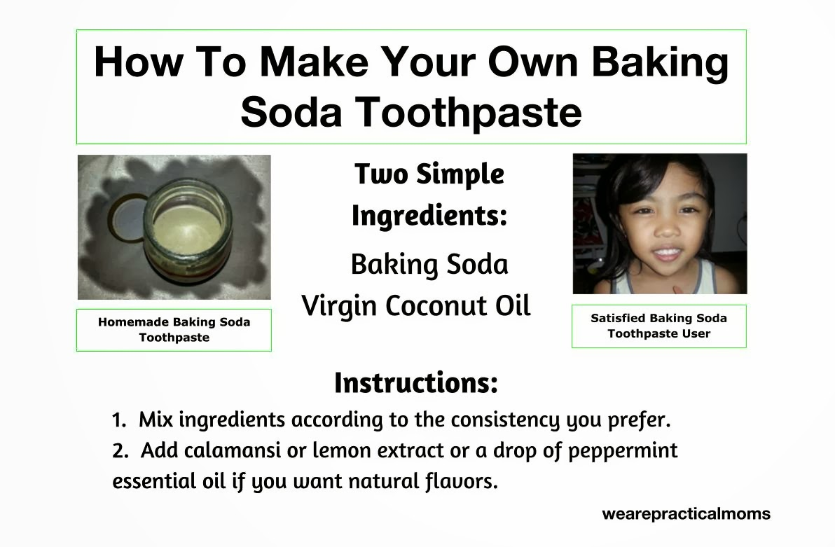 how to make your own baking soda toothpaste that is non-toxic, natural, easy, and affordable