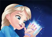 Frozen Baby Elsa Manicure