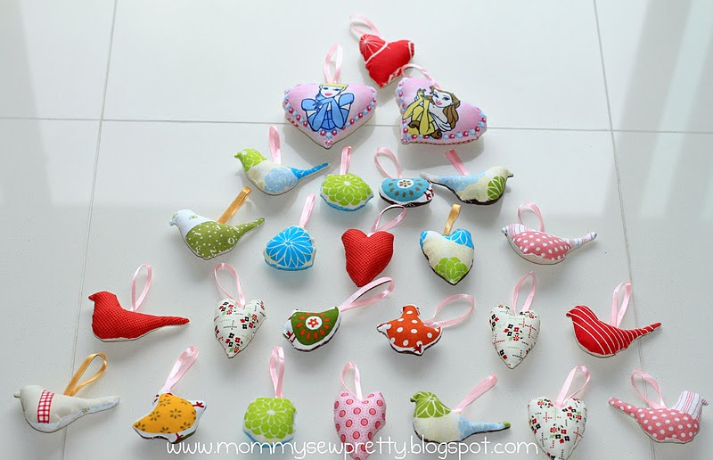 Christmas Tree Decorations To Sew : Mommy sew pretty christmas tree ornaments