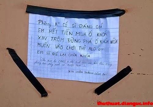 Những bức tâm thư gửi đến kẻ trộm cực bá đạo của người Việt