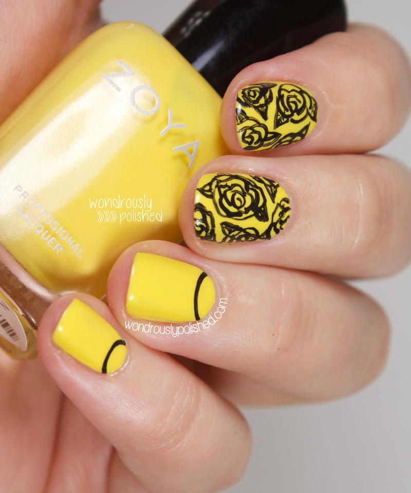 Wondrously Polished The Beauty Buffs Yellow Trend Nail Art