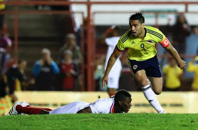 Radamel Falcao scores his latest national goal against Costa Rica, ahead of the start of Copa América 2015.