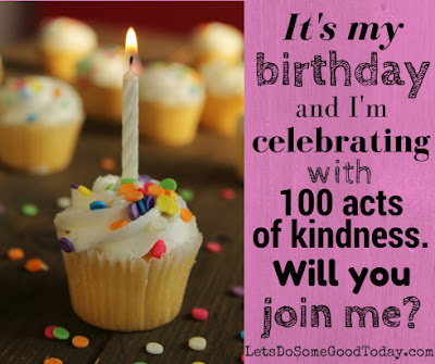 Let's Do Some Good - 100 birthday acts of kindness