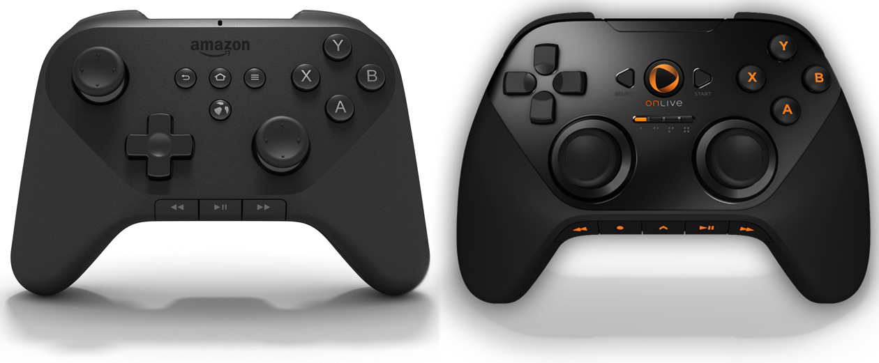 Comparison of the Amazon Fire TV Game Controller to the OnLive MicroConsole Controller