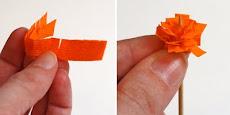 MODELO flor laranja montagem
