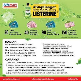 Beli Listerine Di Alfamart Berhadiah Voucher Belanja dan Tiket Java Jazz