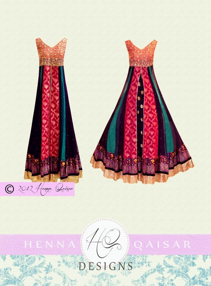 Latest Bridal Dresses 2012 For Woman By HQ - Henna Qaiser | Henna