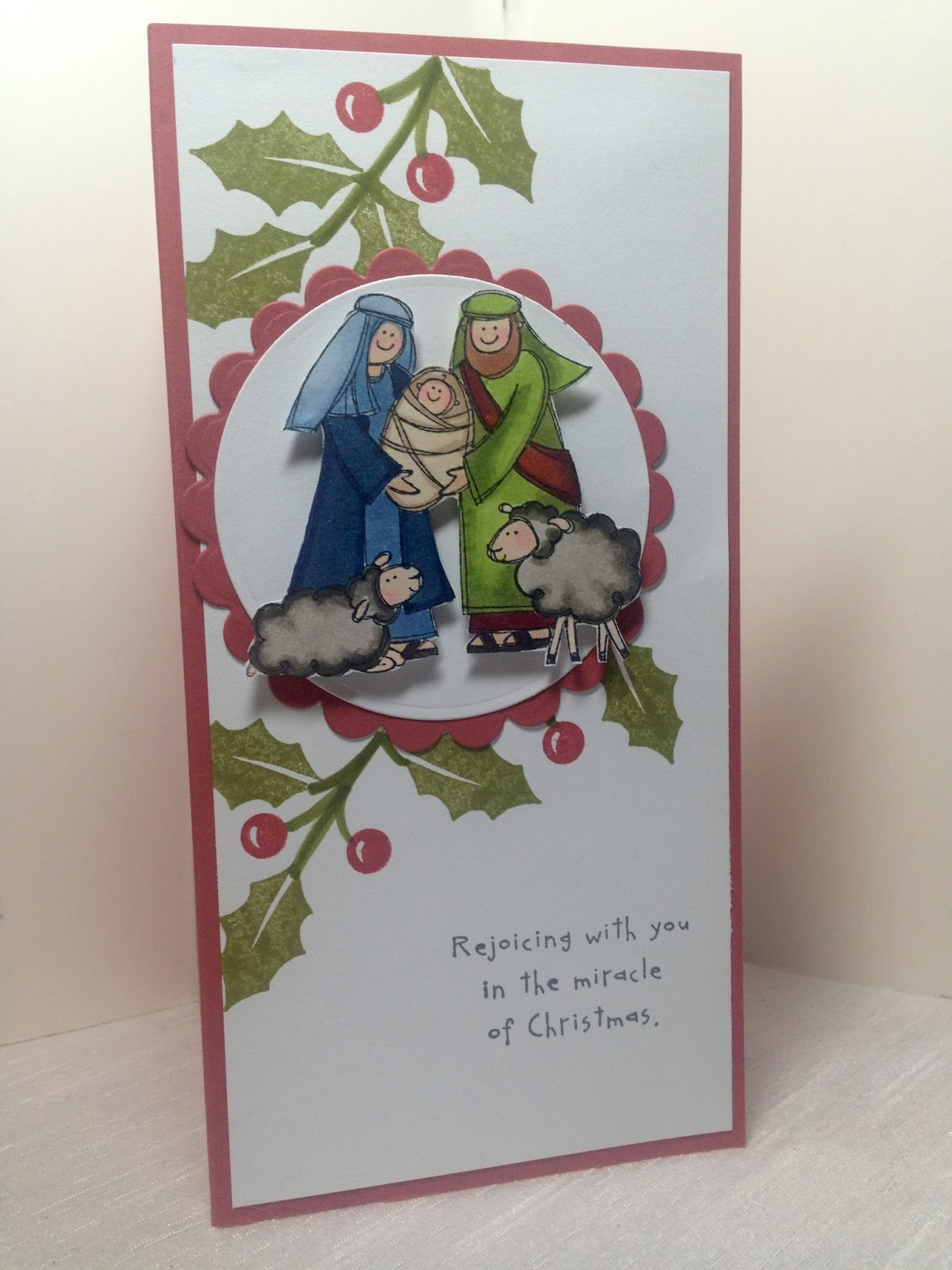 Amy\'s Creative Pursuits: November Christmas Cards: Baby Jesus ...
