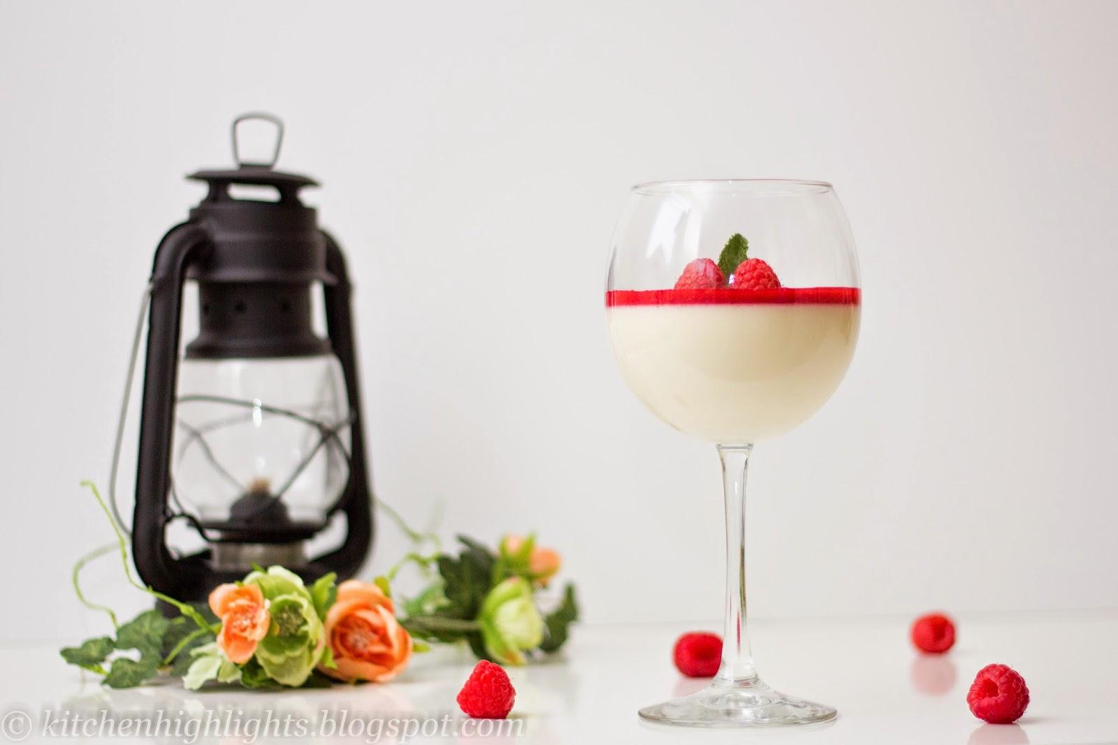 Panna Cotta (cooked cream) is a a rich and luxurious dessert Italian dessert.
