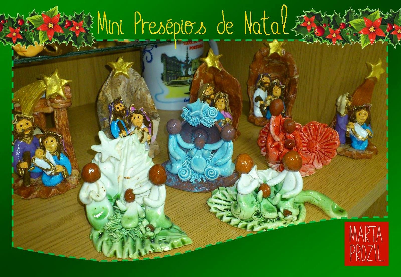 Presépios miniatura em cerâmica