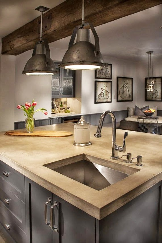 Alamodeus Industrial Farmhouse Kitchen
