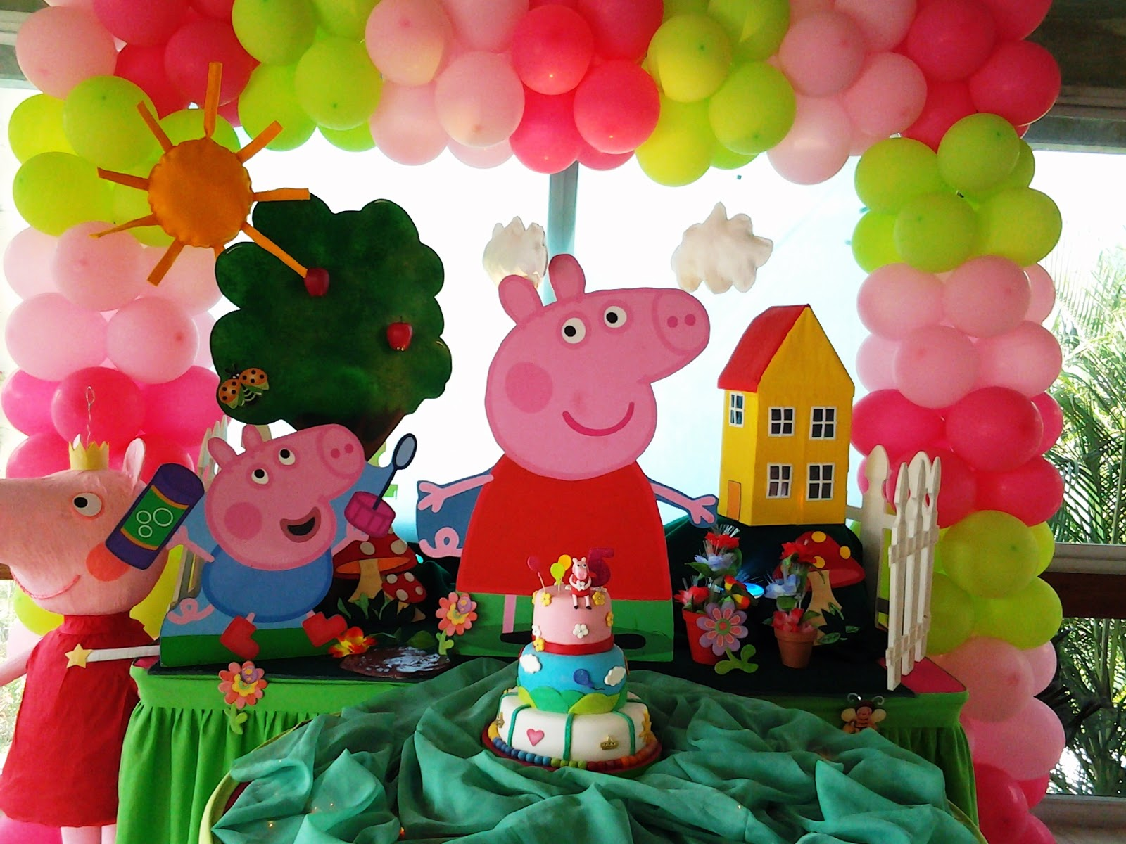 Pkelandia fiesta de peppa cumplea os de chantal for Ideas decoracion cumpleanos