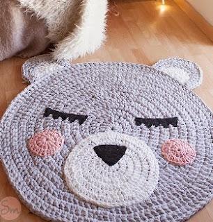 Tutorial alfombra oso de trapillo - Tutorial alfombra trapillo ...