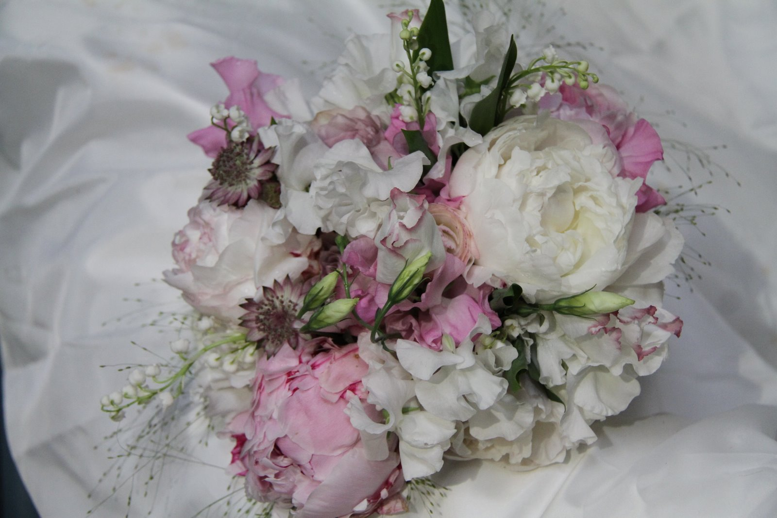 The Flower Magician: Sweet Peas, Peonies And Lily Of The
