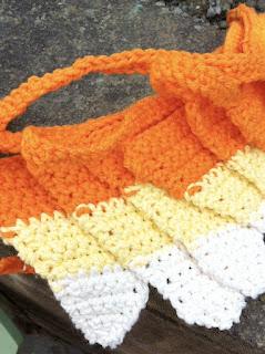 free crochet pattern candy corn bunting