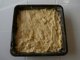gently spread batter in 8 inch pan
