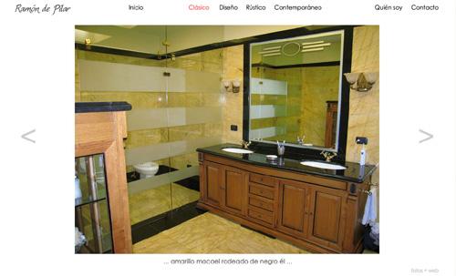 página web de Ramón de Pilar (alta decoración, interiorismo, espacios interiores, asesoría de mobiliario, diseño doméstico, arquitectura)