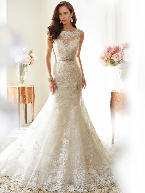Brautkleid mit Spitze, Spitzenbrautkleid,  Brautkleider aus Spitze