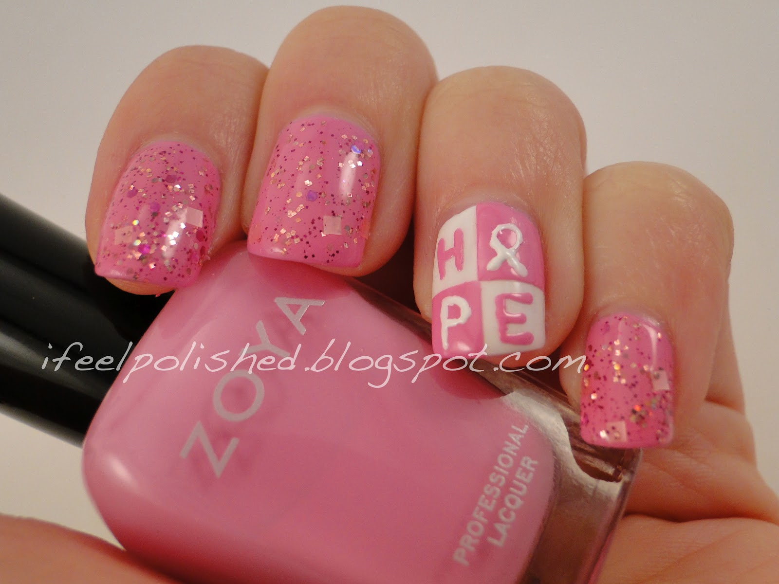 I Feel Polished!: Breast Cancer Awareness Nails: Take Two