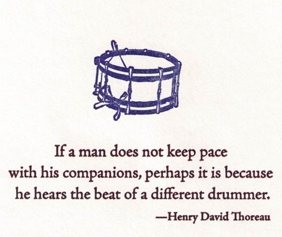 march to a different drummer