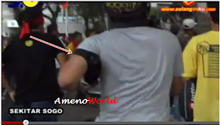 gambar polis dibelasah oleh geng bersih
